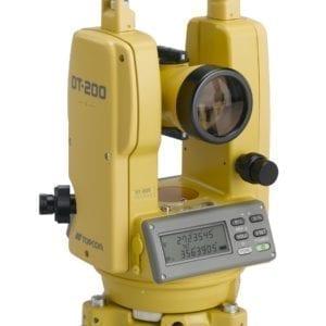 DT200 3x4Rt b 300x300 - TOPCON DT-209L Basis theodoliet 26x vergroting met laser