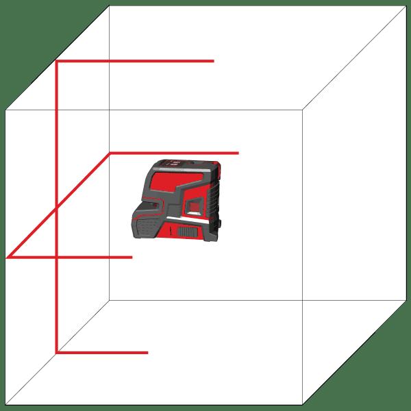 LEVELFIX CL202R Kruislijnlaser 1H / 1V